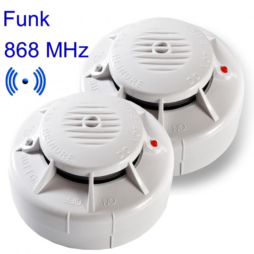Funk-Rauchwarnmelder ASD-10QR mit Klebepad, Feuerlöscher-Welt ...