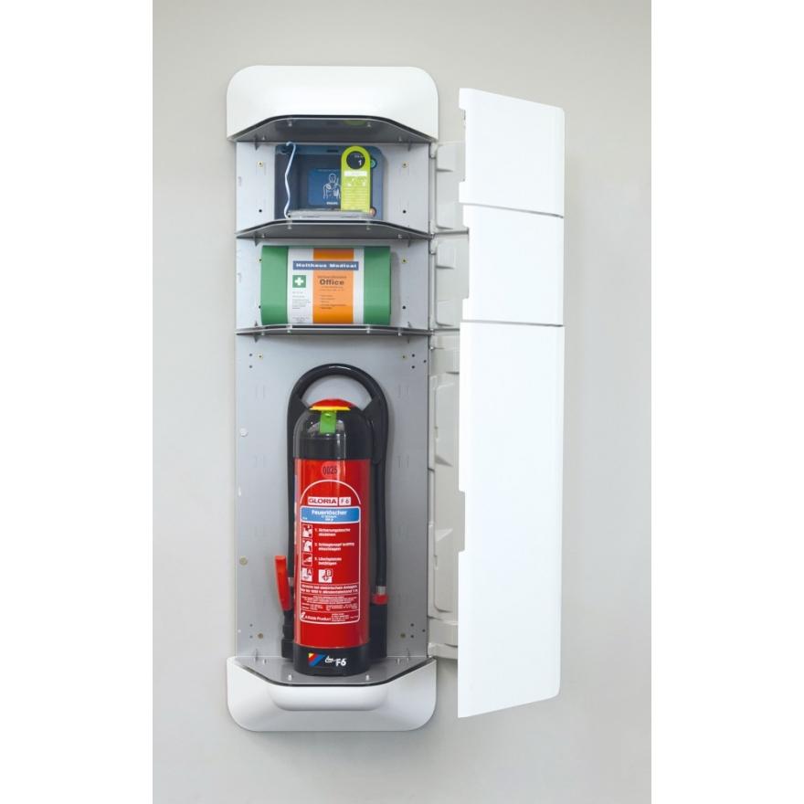 feuerloescher welt help feuerl scher schrank aufsatz defibrillator und verbandskasten. Black Bedroom Furniture Sets. Home Design Ideas